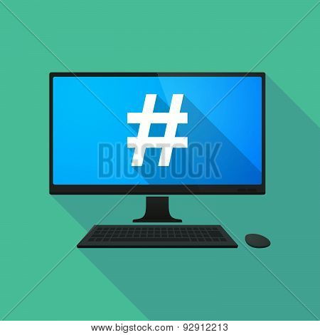 Personal Computer With A Hash Tag