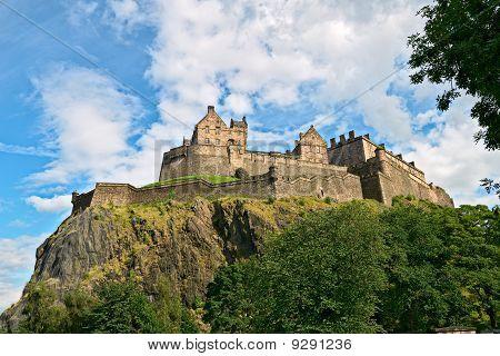 Edinburgh Castle, Scotland, From The West