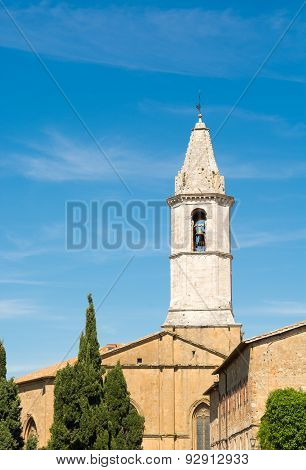 View Of The Cathedral In Pienza