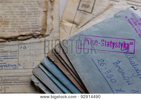 Old letters and documents