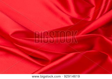 Red silk drapery. Place for text.