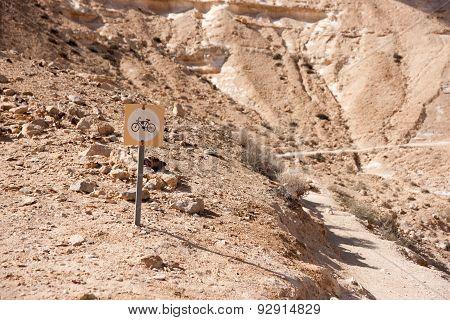 Bike Travel In A Desert
