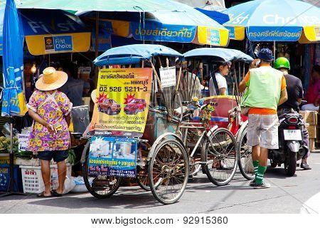 Rickshaw in Nonthaburi Province,Thailand