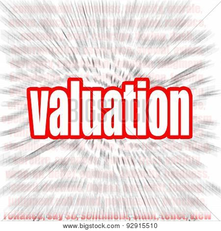 Valuation Word Cloud