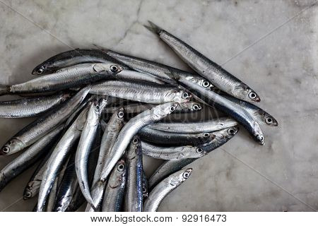 Anchovies On A Marble Background, Acciughe