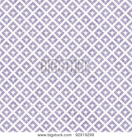 Purple And White Diagonal Squares Tiles Pattern Repeat Background