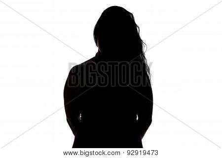 Photo of silhouette curvy woman