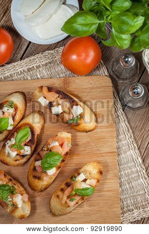 Appetizer Bruschetta.