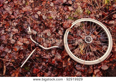 Decomposed bicycle part