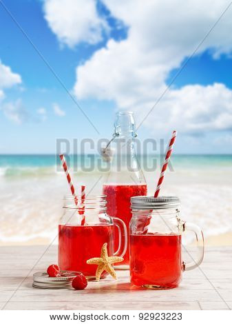 Summer drinks at the beach