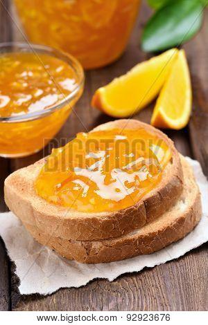 Orange Jam On Toast