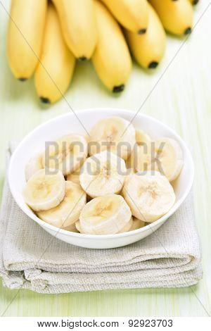 Banana Slices In Bowl