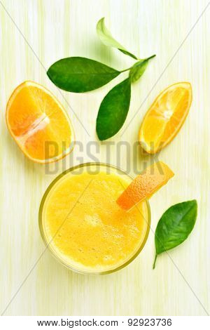Orange Smoothie In Glass