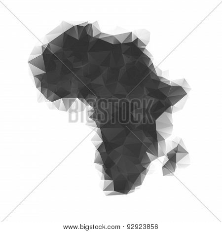 Map of Africa as polygonal mosaic