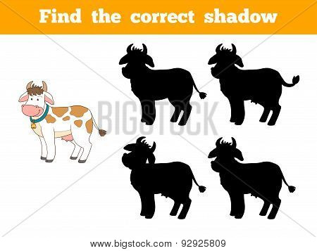 Find The Correct Shadow (cow)