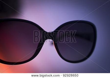 Womens Sunglasses Eyewear Glasses Silhouette On Sunset