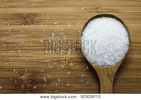 Monosodium Glutamate (msg) In Wood Spoon