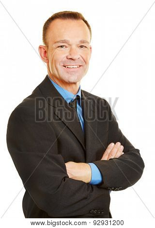 Head shot of a smiling attractive business man
