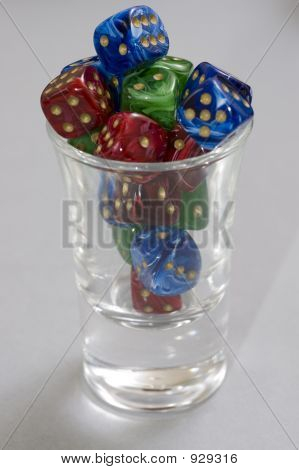 Upright Shot Glass 3 Color