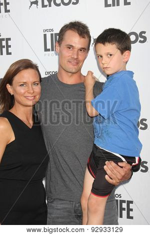 LOS ANGELES - JUN 8:  Mary Lynn Rajskub, Matthew Rolph, Valentine Anthony Rolph at the LA Launch Of LYCOS Life at the Banned From TV Jam Space on June 8, 2015 in North Hollywood, CA