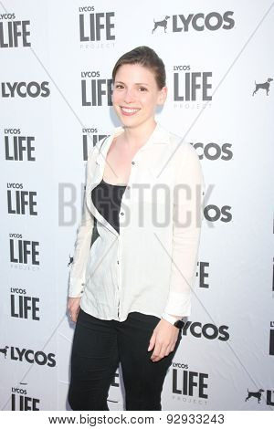 LOS ANGELES - JUN 8:  Julia Whelan at the LA Launch Of LYCOS Life at the Banned From TV Jam Space on June 8, 2015 in North Hollywood, CA