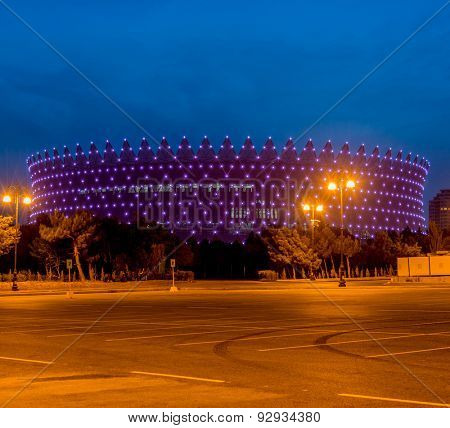 BAKU - MAY 10, 2015: Heydar Aliyev Sports Complex on May 10 in BAKU, Azerbaijan. Baku Azerbaijan will host the first European Games