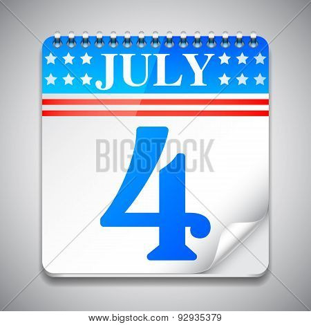 Fourth July Calendar