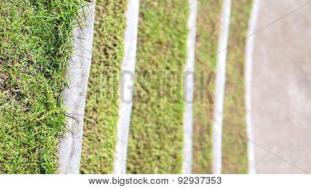 Grass Steps Design In Landscape Park