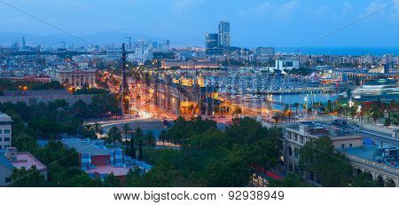 BARCELONA CITY at NIGHT