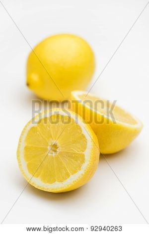 Cut lemon - isolated