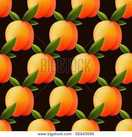 Ripe Peach Seamless Background