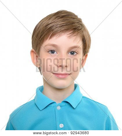 Photo of young happy boy looking at camera.