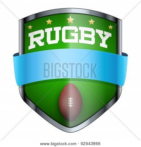 Rugby Shield badge.
