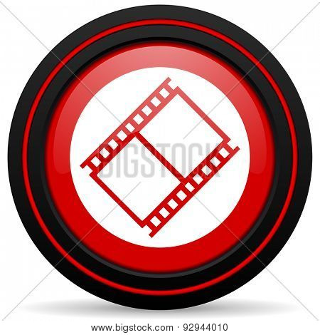 film red glossy web icon
