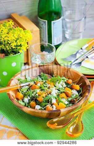 Butternut Squash, Arugula, Couscous And Feta Salad