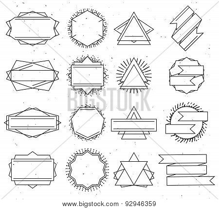 Set Of Outline Design Elements