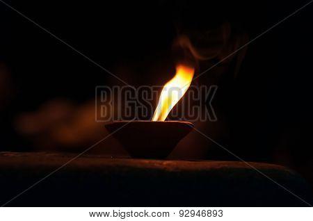 Candle For Ganga Aarti Ritual