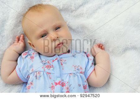 Sweet Chubby Newborn Baby Girl
