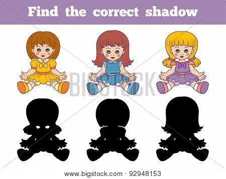 Find The Correct Shadow (dolls)