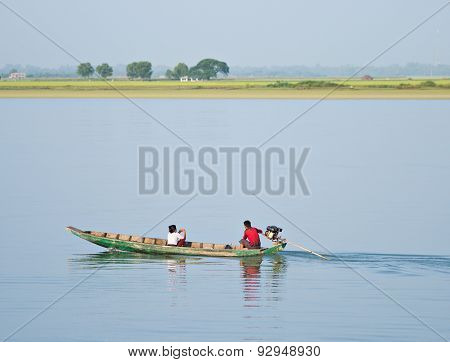 Travelling On The Kaladan River