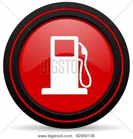 petrol red glossy web icon