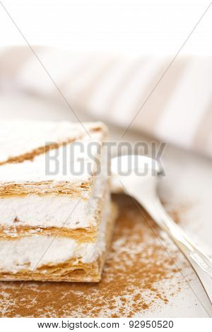 Flaky Pastry Filled Of Meringue