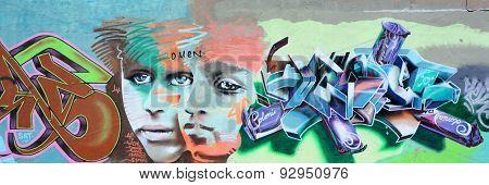 Street art alien