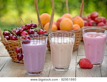 Fruit yogurt (yogurts)