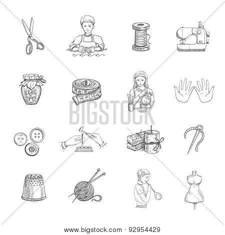 Sketch Handmade Icons Set