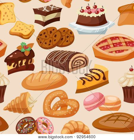 Pastry Seamless Pattern