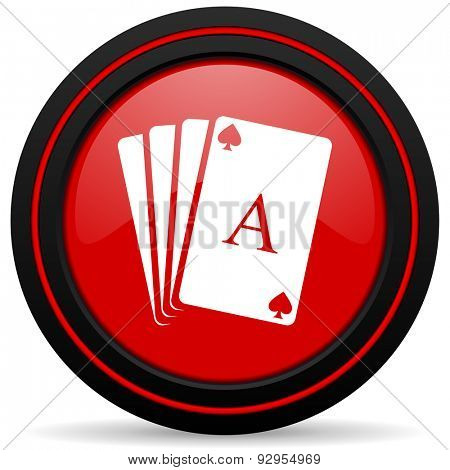 card red glossy web icon