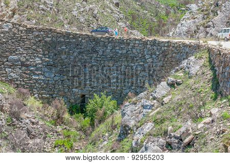Built Out Part Of The Historic Swartberg (black Mountain) Pass