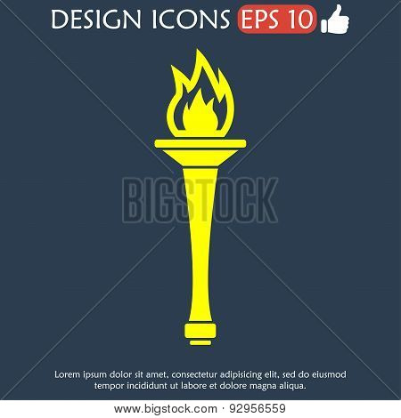 Torch Icon - Vector