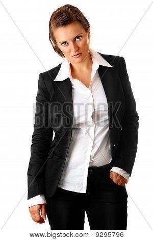tired modern business woman
